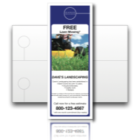 "Door Hanger Design Templates - Jumbo 5.5"" x 17"""