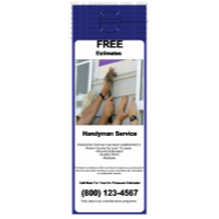 Handyman Door Hanger Blue