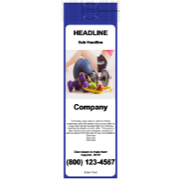Health/Fitness Door Hangers  Blue