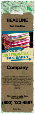 Tax Relief Door Hanger