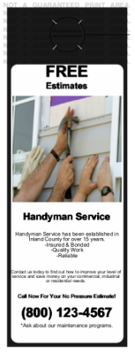 Handyman Black door hanger