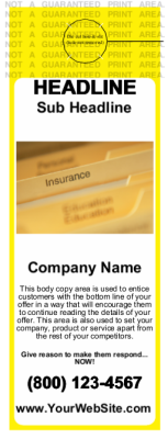 Insurance Door Hangers Yellow