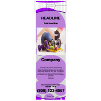Health/Fitness Door Hanger Purple