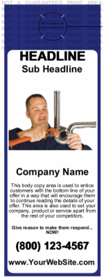 Plumbing Door Hanger Blue