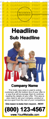 Childcare Door Hanger Yellow