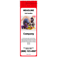Health/Fitness Door Hanger Red
