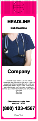 Medical Door Hanger Pink