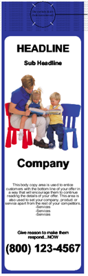 Childcare Door Hanger Blue