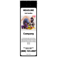 Health/Fitness Door Hanger Black