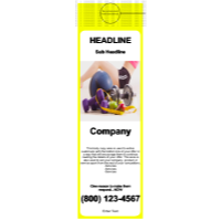 Health/Fitness Door Hanger Yellow