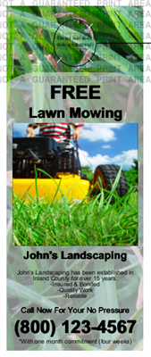 Lawn Care Door Hanger Grass Mini
