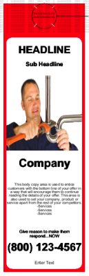 Plumbing Door Hanger Red