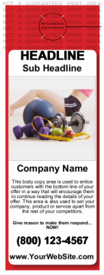 Health and Fitness Door Hanger Red