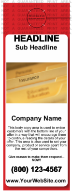 Insurance Door Hanger Red
