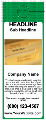 Insurance Door Hanger Green