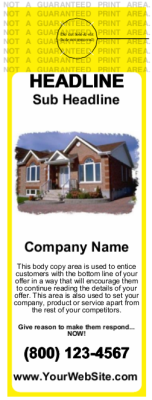 Mortgage Door Hanger Yellow Standard Size