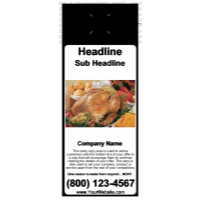 Food/Drink Door Hanger Black