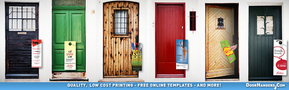 Door Hangers. Quality, Low Cost Printing. Free Online Templates. Fast Shipping
